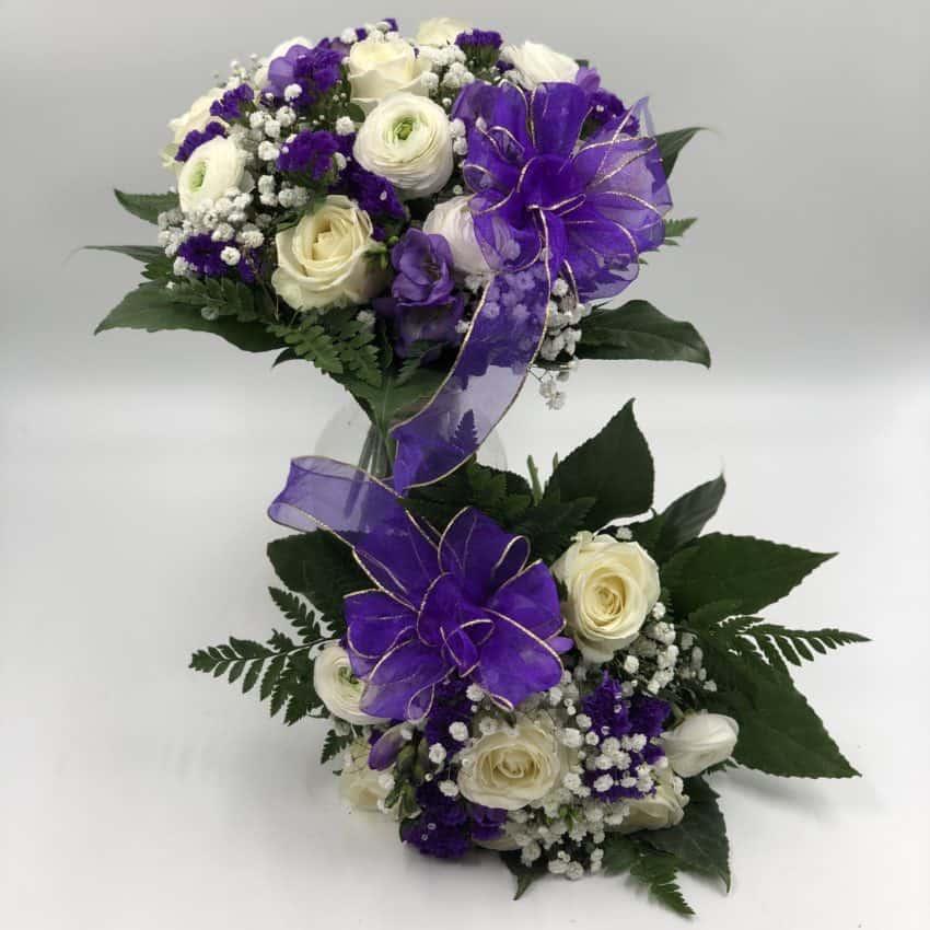 Send blomster en mor og barn buket