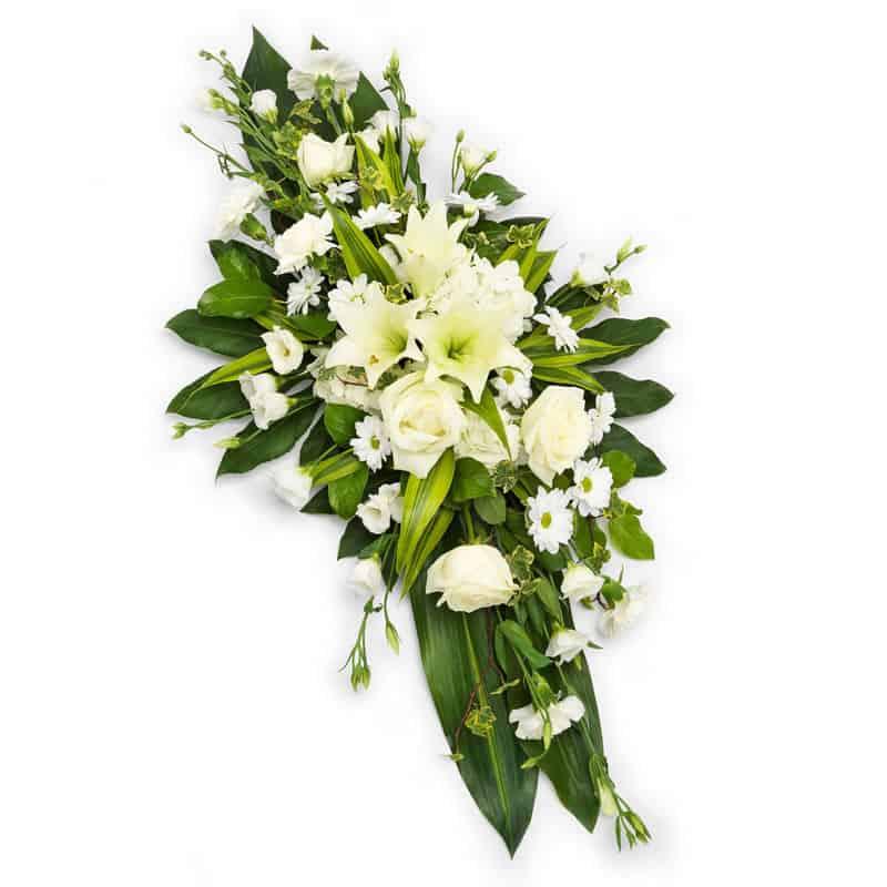 Send blomster en båre dekoration til begravelse leveres til hele Danmark