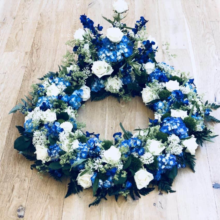 Send blomster en krans til begravelse