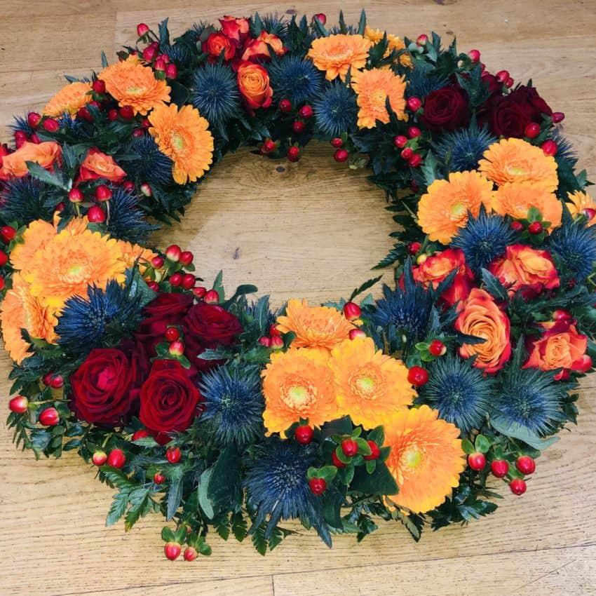 Send blomster en krans til begravelse leveres til hele Danmark