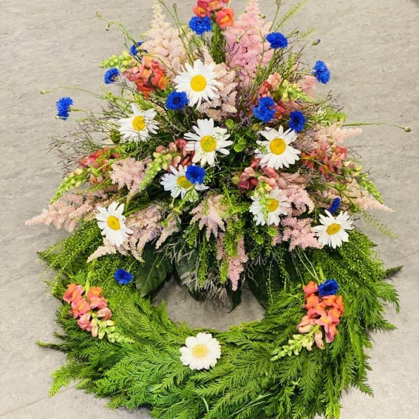 Send blomster en krans til begravelse leveres hele Danmark