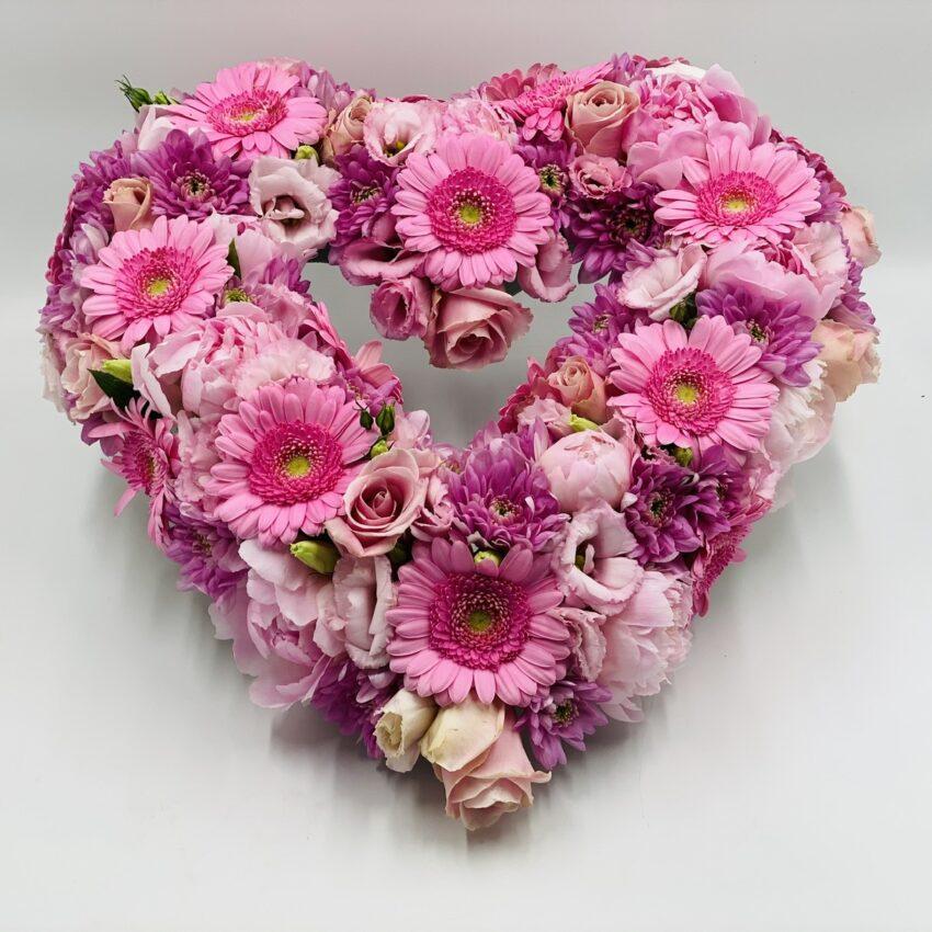 Send blomster en hjerte til begravelse